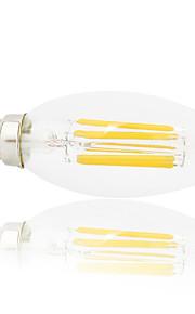 6 W LED Λάμπες Πυράκτωσης 560 lm E14 C35 6 LED χάντρες COB Πάρτι Διακοσμητικό Χριστουγεννιάτικη διακόσμηση γάμου Θερμό Λευκό Ψυχρό Λευκό 220-240 V, 1pc