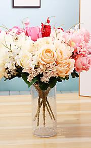 Ψεύτικα λουλούδια 1 Κλαδί Μονό μινιμαλιστικό στυλ Μοντέρνα Υποαλλεργικά φυτά Λουλούδι για Τραπέζι
