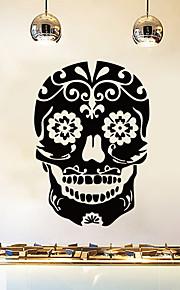 λουλούδι μάτι κρανίο αυτοκόλλητο τοίχο διακοσμητικά τέχνη ταπετσαρία τέχνης