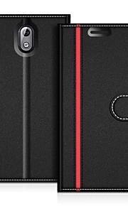 Кейс для Назначение Nokia Nokia 3.1 Защита от удара / со стендом Чехол Однотонный Твердый Углеродное волокно для Nokia 3.1