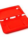 protetora da pele de silicone / caixa para o Nintendo DSi LL / XL (vermelho)