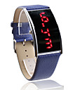 Elegant PU Band LED Wrist Watch For Women(Blue)