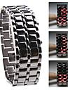 Жен. Модные часы Спортивные часы Кварцевый LED Нержавеющая сталь Группа Черный