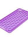 iphone4 (자주색)에 대한 거품이 투명 소프트 케이스