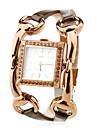 femmes en alliage mode analogique montre-bracelet à quartz (marron)