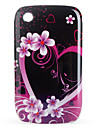 Protective Flowers Pattern Case for Blackberry 8520, 8530, 9300, 9330