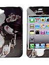защитные гладкие поликарбоната спереди и сзади на случай iphone iphone 4 и 4S (девушка с револьвером)