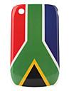 África do Sul caso padrão bandeira protetora para blackberry 8520 e 8530