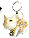 Kitty Pattern Key Ring