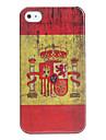 caso antique bandeira espanha para iphone 4 e 4S