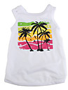 Tropical Palm Tree Style Cotton Shirt for Dogs (White, Multiple Sizes Available)
