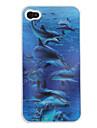 3d cas modèle d'effet de baleine pour iphone 4 et 4s
