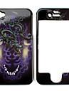 dragão caso estilo padrão de proteção para iphone 4 e 4S (multi-cor)