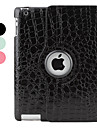 Case For with Stand Auto Sleep / Wake 360° Rotation Full Body Lines / Waves PU Leather for iPad 4/3/2