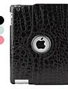 Coque Pour iPad 4/3/2 Avec Support Veille / Déverrouillage Automatique Rotation 360° Coque Intégrale Lignes / Vagues faux cuir pour iPad