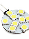g4 led bi-broches lumières 9 smd 5050 100lm blanc naturel 6000k