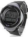 남성용 스포츠 시계 손목 시계 디지털 알람 달력 크로노그래프 태양의 LED 스톱워치 고무 밴드 멋진 블랙