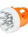 Camping 2-Mode Rechargeable 5-LED Flashlight Set (AC Charger, Orange)