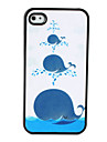 Cute Whale Pattern Dull Polish Hard Case for iPhone 4 and 4S