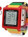 남녀 접촉 스크린 디지털 방식으로 다채로운 플라스틱 밴드 손목 시계 (분류 된 색깔)
