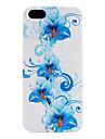 flor azul padrão estojo para iphone 5/5s