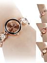 여성의 심장 모양의 합금 아날로그 석영 팔찌 시계 (여러 색)