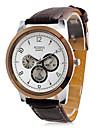 Мужские аналоговые кварцевые часы (коричневые)