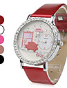 Women's Red Sofa PU Analog Quartz Wrist Watch (Assorted Colors)