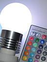 E26/E27 Круглые LED лампы G45 5 Высокомощный LED 450 lm RGB На пульте управления AC 100-240 V