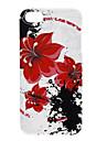 아이폰 5/5S를위한 큰 빨간 꽃 패턴 소프트 케이스