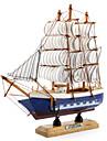 20x20cm деревянная парусная лодка украшения бюро
