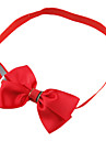 Cat Dog Collar Adjustable / Retractable Bow Tie Textile Rose Red Green Blue Navy
