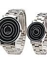 le style unisexe en acier quelques analogique poignet la montre à quartz (argent)