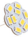 2.5w g4 led bi-broches lumieres 9 smd 5630 200lm blanc chaud 3000k dc 12v