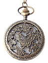 Unisex Steel Analog Quartz Pocket Watch with Butterfly (Bronze)