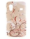 Caso Pattern Brown Vines rígido com diamante para Samsung Galaxy Ace S5830