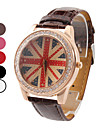 Women's Flag Design PU Analog Quartz Wrist Fashion Watch (Assorted Colors)
