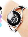 Повседневный стиль Женские кварцевые Браслет сплава аналоговые часы (серебро)