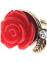 Z&x® винтажном стиле красная роза кольцо