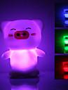 Cute Pig Shaped Colorful Light LED Night Lamp (3xLR44)