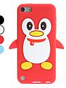 """Мягкий 3D чехол """"Пингвин"""" для iTouch 5 (разные цвета)"""