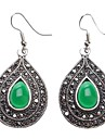 Z&X®  Water-drop Pattern Jadeite Earrings