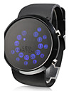 Men's Watch Blue LED Roll Ball Style Display Silicone Strap Wrist Watch Cool Watch Unique Watch