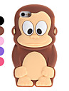 Case Suave 3D para iPhone 5 - Macaco Cartoon (Várias Cores)