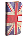 Retro Style UK National Flag Pattern PU Leather Case for iPhone 5/5S