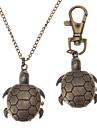 Unisex Turtles Style Alloy Analog Quartz Keychain Necklace Watch (Bronze) Cool Watches Unique Watches Fashion Watch