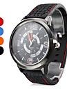 Pulso dos homens de estilo Silicone Analógico Quartz Watch (Black)