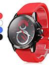 Masculino Relógio Esportivo Quartzo Banda Preta Branco Azul Vermelho