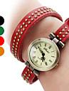Femmes PU Montre analogique bracelet à quartz (couleurs assorties)