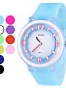 Unisex Borracha Quartzo relógio de pulso analógico (cores sortidas)